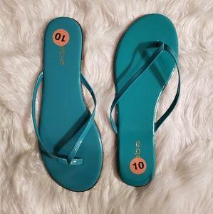 Bebe Ilistra Teal Thong Sandals